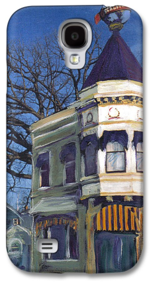 Miexed Media Galaxy S4 Case featuring the mixed media Three Brothers by Anita Burgermeister