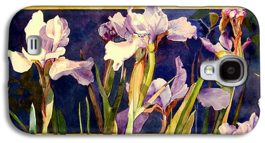 Irises Galaxy S4 Case featuring the painting Three Gossips by Linda Marie Carroll