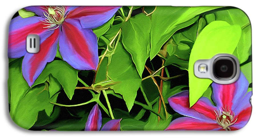 Mixed Media Art Galaxy S4 Case featuring the painting Three Jacks by Patricia Griffin Brett