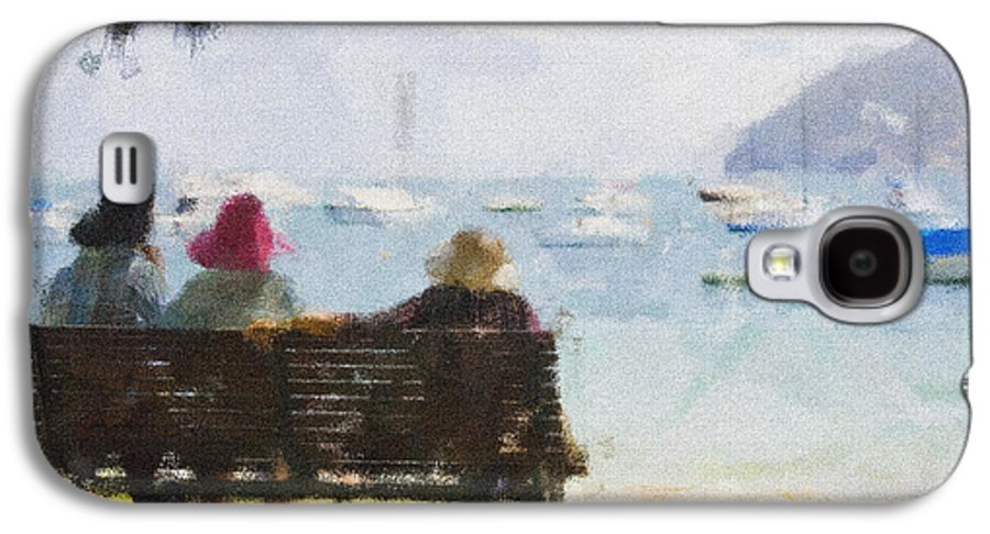 Impressionism Impressionist Water Boats Three Ladies Seat Galaxy S4 Case featuring the photograph Three Ladies by Avalon Fine Art Photography