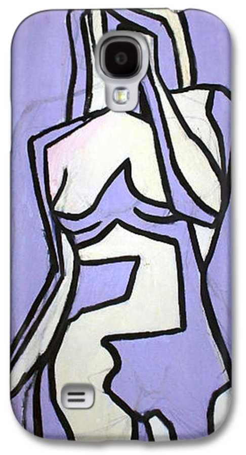 Nudes Galaxy S4 Case featuring the painting Three by Thomas Valentine