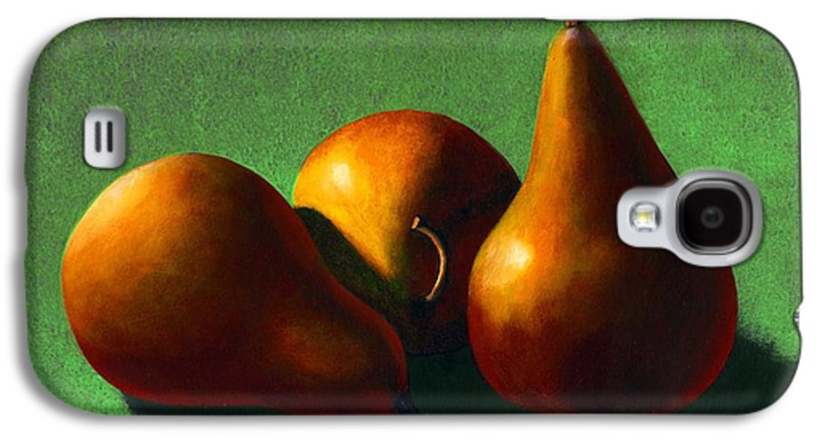Still Life Galaxy S4 Case featuring the painting Three Yellow Pears by Frank Wilson