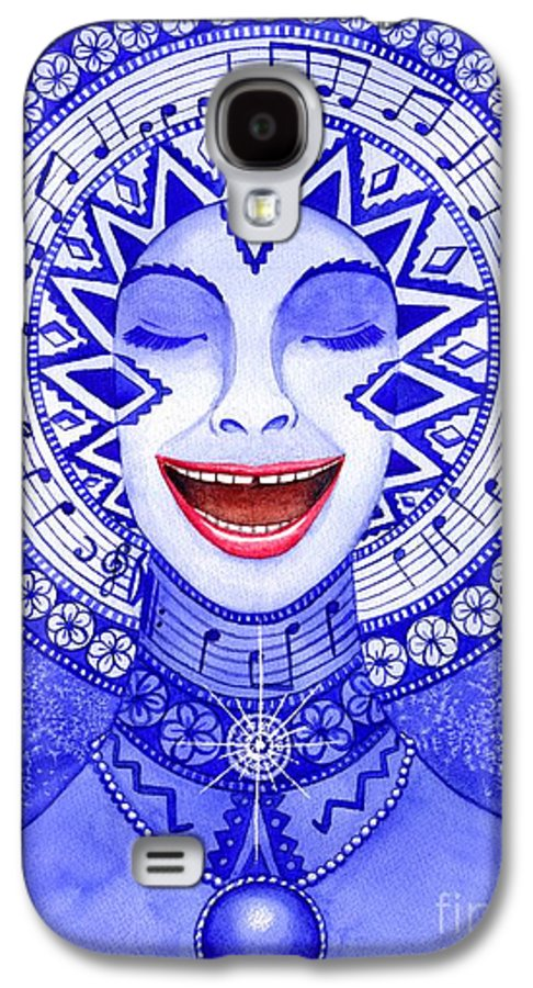 Chakra Galaxy S4 Case featuring the painting Throat Chakra by Catherine G McElroy