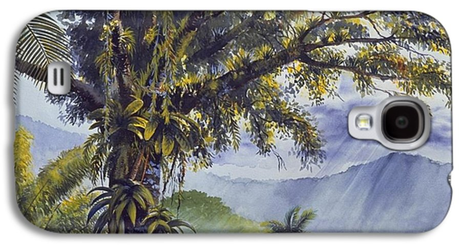 Chris Cox Galaxy S4 Case featuring the painting Through The Canopy by Christopher Cox