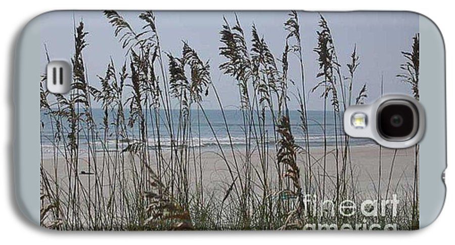 Florida Beach Near St. Augustine Galaxy S4 Case featuring the photograph Thru The Sea Oats by Barb Montanye Meseroll