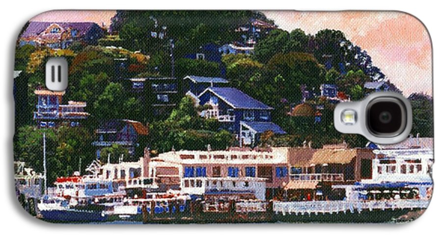 Landscape Galaxy S4 Case featuring the painting Tiburon California Waterfront by Frank Wilson