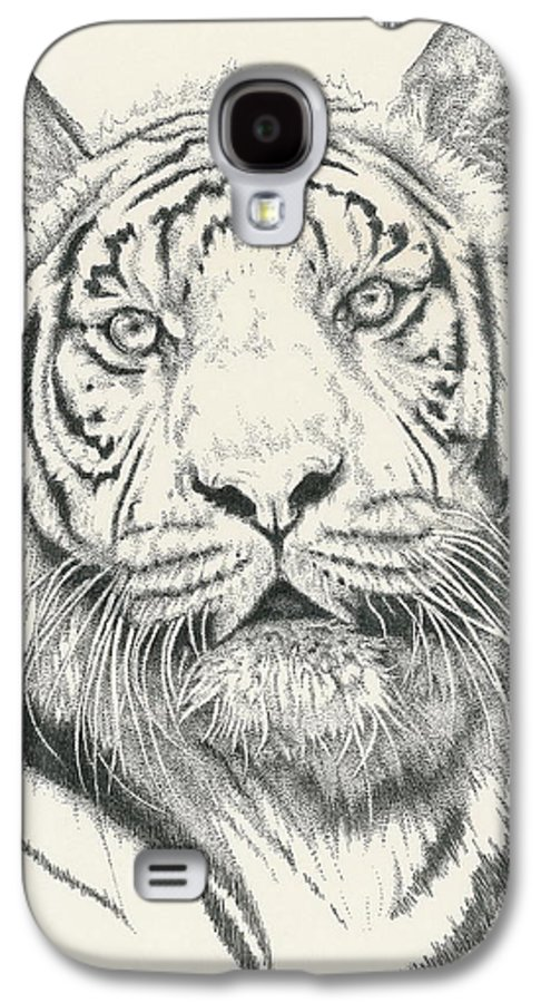 Tiger Galaxy S4 Case featuring the drawing Tigerlily by Barbara Keith