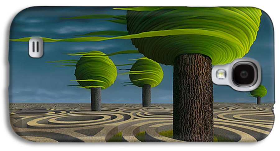 Tree Galaxy S4 Case featuring the painting Tilia Arbora by Patricia Van Lubeck