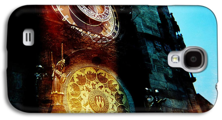 Clock Time Holga Color Photograph Praha Galaxy S4 Case featuring the photograph Time Is Burning by Olivier De Rycke