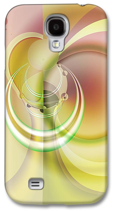 Fractal Galaxy S4 Case featuring the digital art Time Warp Revisited by Frederic Durville