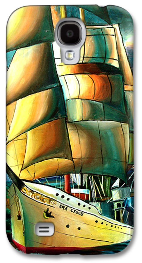 Ship Galaxy S4 Case featuring the drawing Timeless by Darcie Duranceau