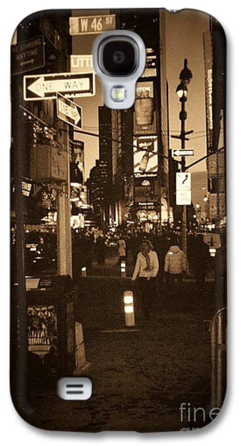 New York Galaxy S4 Case featuring the photograph Times Square by Debbi Granruth