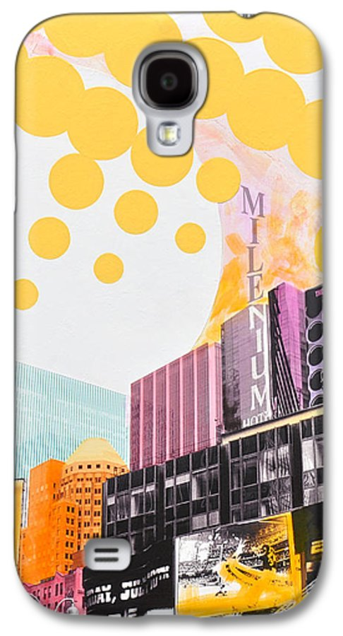Ny Galaxy S4 Case featuring the painting Times Square Milenium Hotel by Jean Pierre Rousselet