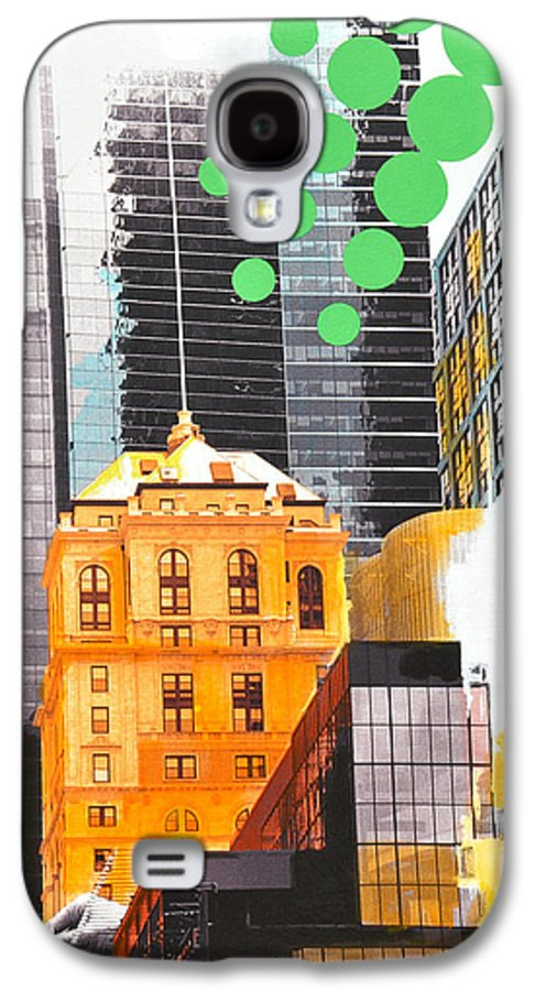 Ny Galaxy S4 Case featuring the painting Times Square Ny Advertise by Jean Pierre Rousselet
