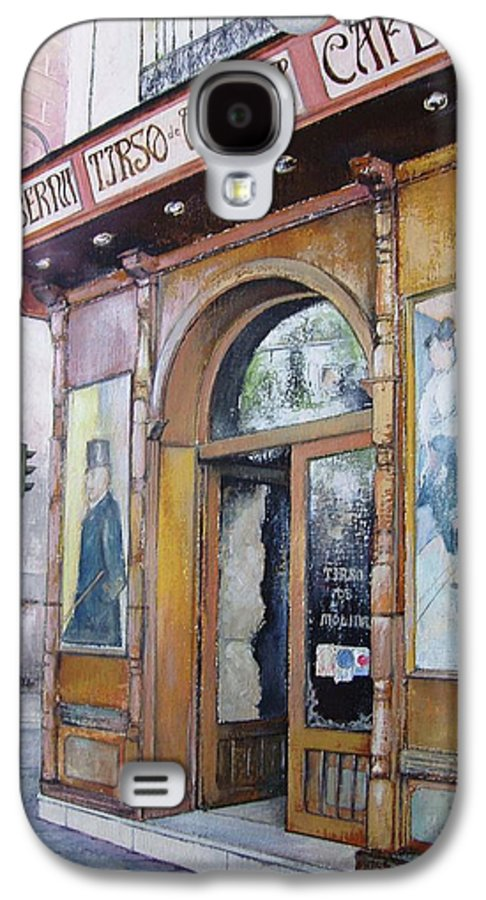 Tirso Galaxy S4 Case featuring the painting Tirso De Molina Old Tavern by Tomas Castano