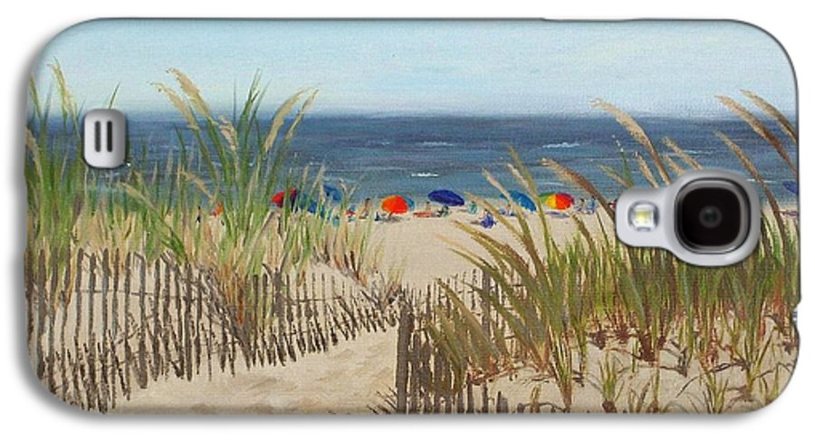 Beach Galaxy S4 Case featuring the painting To The Beach by Lea Novak