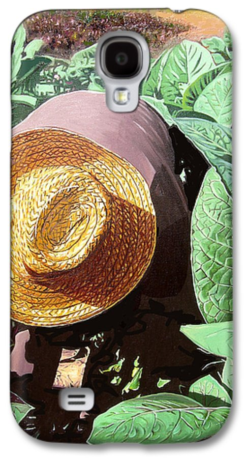 Tobacco Galaxy S4 Case featuring the painting Tobacco Picker by Jose Manuel Abraham
