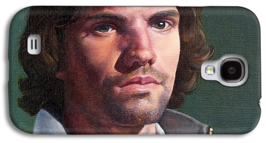 Portrait Galaxy S4 Case featuring the painting Toby by Deborah Allison
