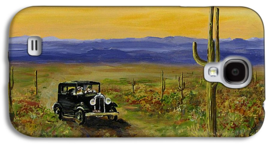 Desert Galaxy S4 Case featuring the painting Touring Arizona by Jack Skinner