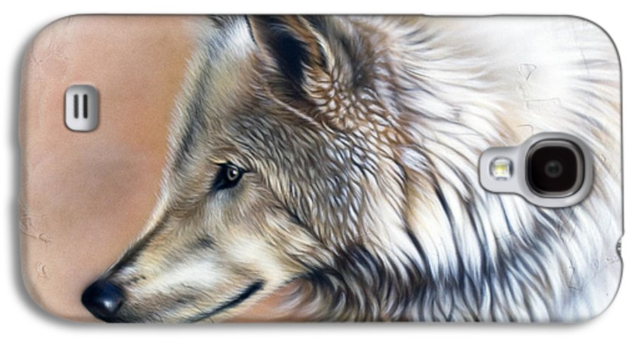 Wolves Galaxy S4 Case featuring the painting Trace IIi by Sandi Baker