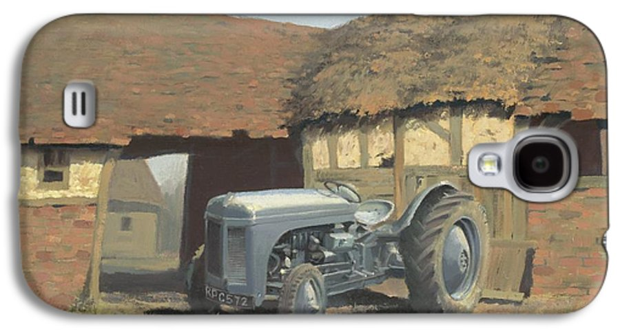Tractor Galaxy S4 Case featuring the painting Tractor And Barn by Richard Picton