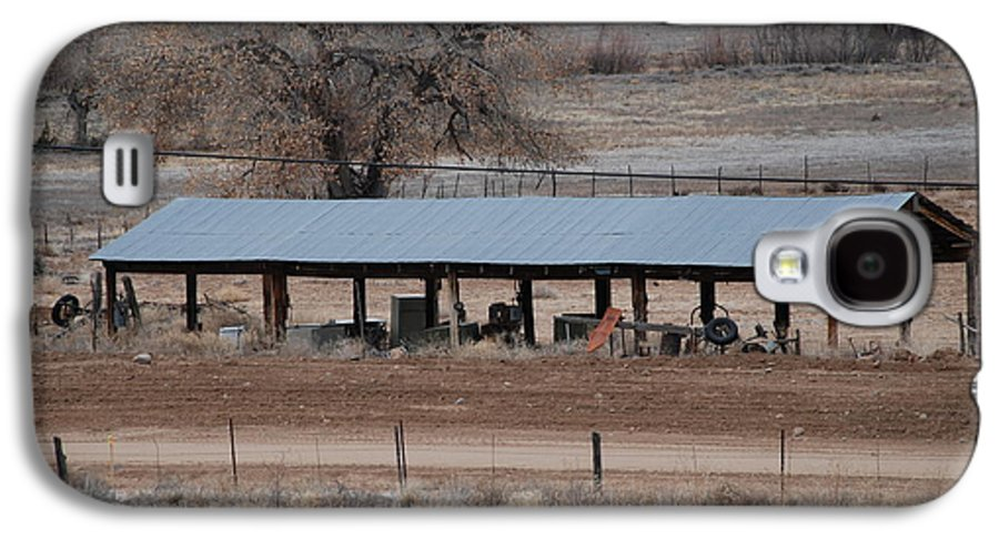 Architecture Galaxy S4 Case featuring the photograph Tractor Port On The Ranch by Rob Hans
