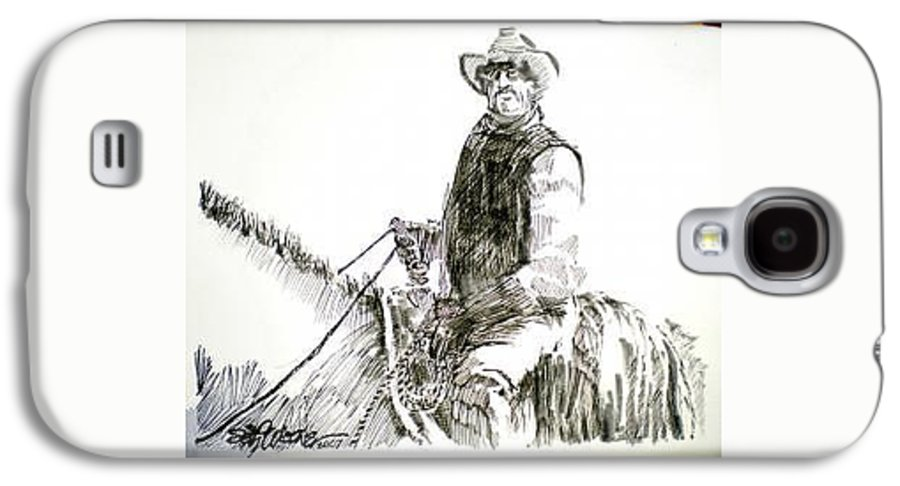 Trail Boss Galaxy S4 Case featuring the drawing Trail Boss by Seth Weaver