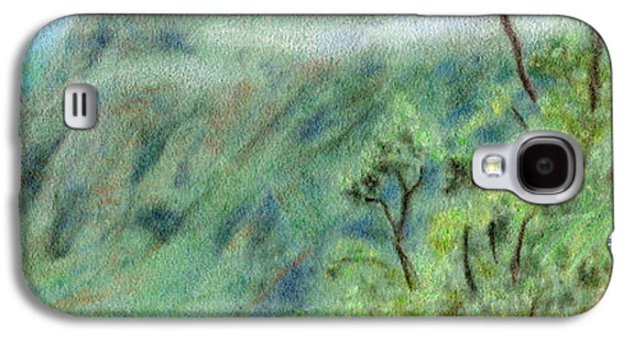 Rainbow Colors Pastel Galaxy S4 Case featuring the painting Trail's End by Kenneth Grzesik