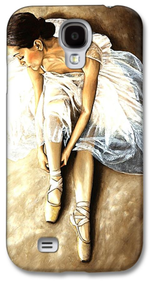 Ballet Galaxy S4 Case featuring the painting Tranquil Preparation by Richard Young