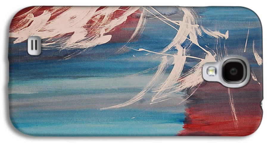 Tranquility Galaxy S4 Case featuring the painting Tranquilidad 2 by Lauren Luna