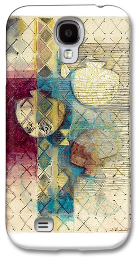 Mixed-media Galaxy S4 Case featuring the painting Trans Xs No 1 by Kerryn Madsen- Pietsch
