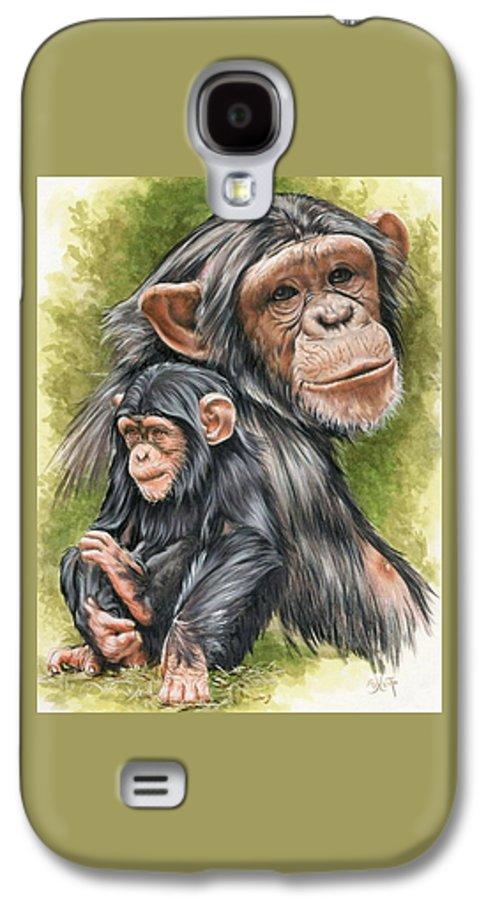 Chimpanzee Galaxy S4 Case featuring the mixed media Treasure by Barbara Keith