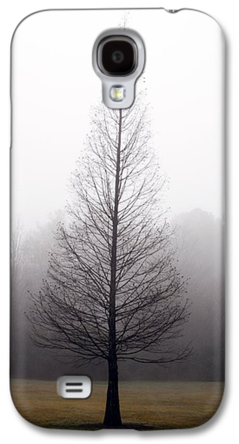 Scenic Galaxy S4 Case featuring the photograph Tree In Fog by Ayesha Lakes