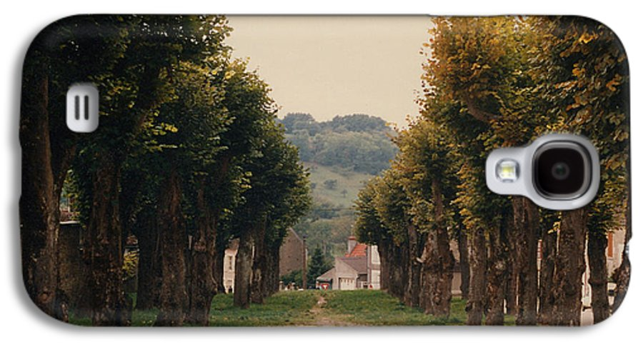 Trees Galaxy S4 Case featuring the photograph Tree Lined Pathway In Lyon France by Nancy Mueller