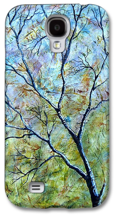 Galaxy S4 Case featuring the painting Tree Number Two by Tami Booher