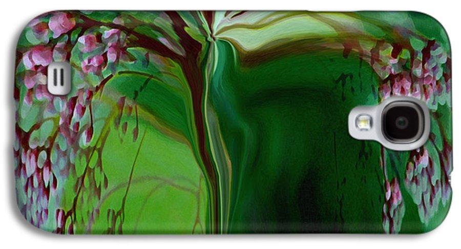 Tree Life Art Galaxy S4 Case featuring the digital art Tree Of Life by Linda Sannuti