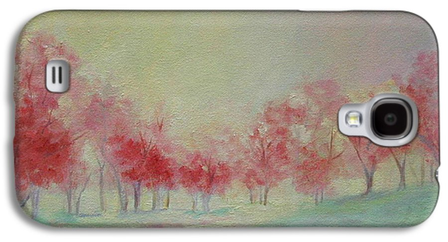 Impressionist Trees Galaxy S4 Case featuring the painting Treeline by Ginger Concepcion