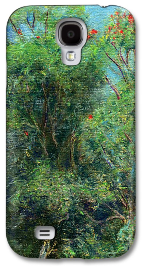 Rainbow Colors Pastel Galaxy S4 Case featuring the painting Trees Of Kokee by Kenneth Grzesik