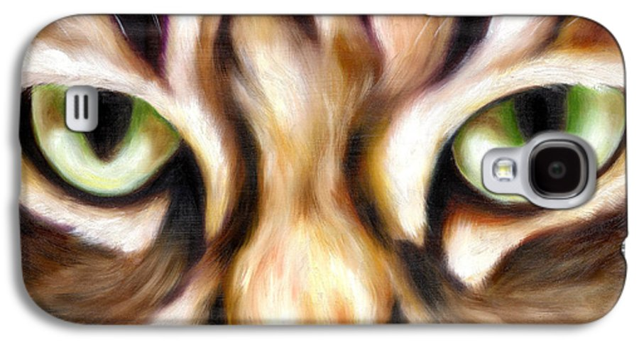 Cat Galaxy S4 Case featuring the painting Trick Or Treat by Hiroko Sakai