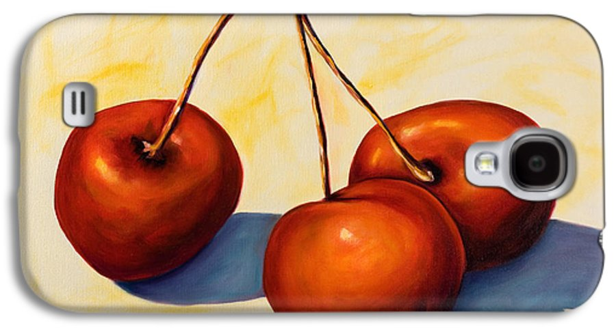 Cherries Galaxy S4 Case featuring the painting Trilogy by Shannon Grissom