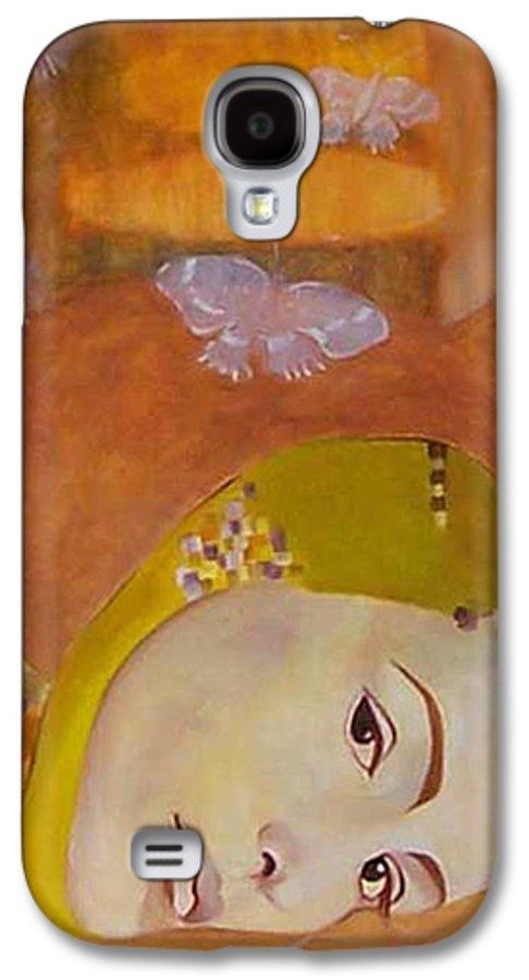Figurative Galaxy S4 Case featuring the painting Trio by Antoaneta Melnikova- Hillman