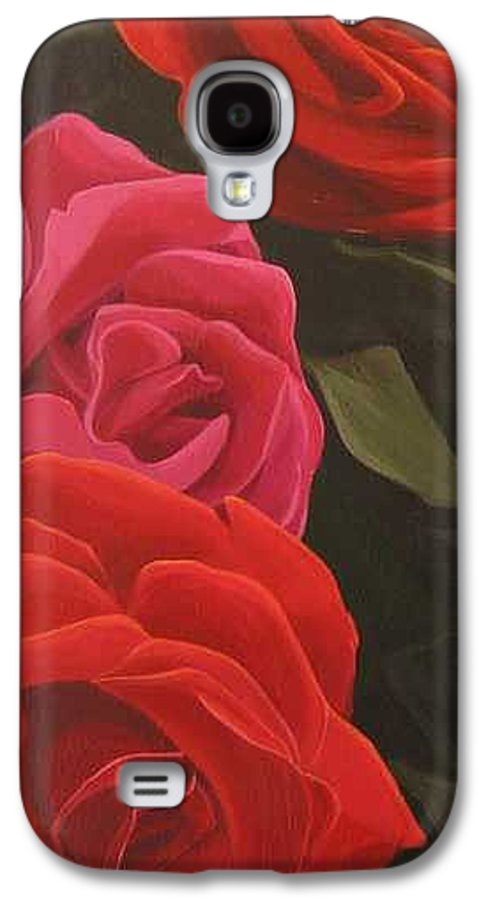 Roses In Italy Galaxy S4 Case featuring the painting Trio by Hunter Jay
