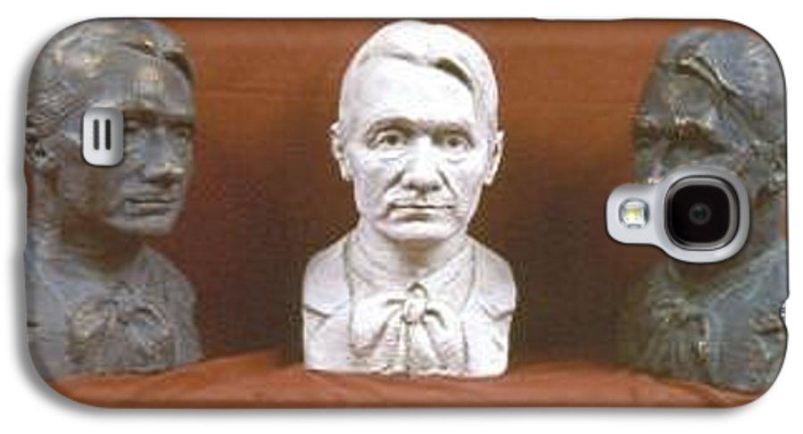 Galaxy S4 Case featuring the sculpture Trio Portrait Of Rudolf Steiner by David Dozier