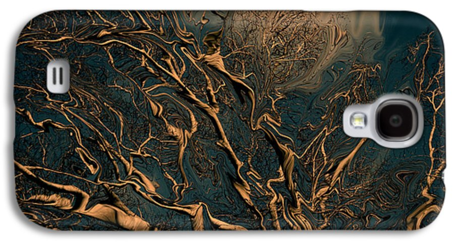 Trees Nature Abstract Digital Painting Galaxy S4 Case featuring the photograph Trippy Tree by Linda Sannuti