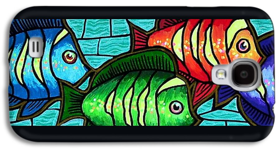 Tropics Galaxy S4 Case featuring the painting Tropic Swim by Jim Harris