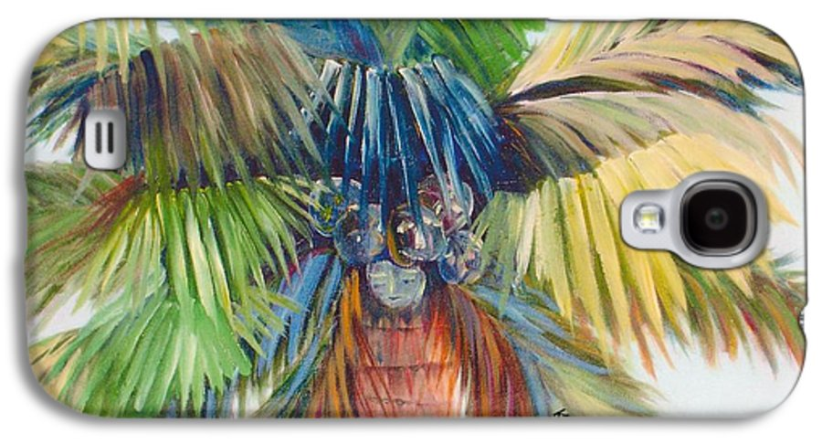 Palm Galaxy S4 Case featuring the painting Tropical Palm Inn by Susan Kubes