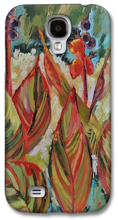 Tropicana Galaxy S4 Case featuring the painting Tropicana by Ginger Concepcion