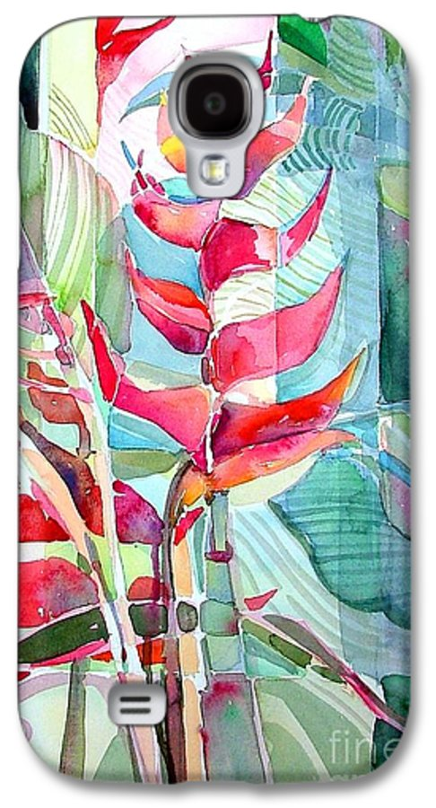 Landscape Galaxy S4 Case featuring the painting Tropicana Red by Mindy Newman