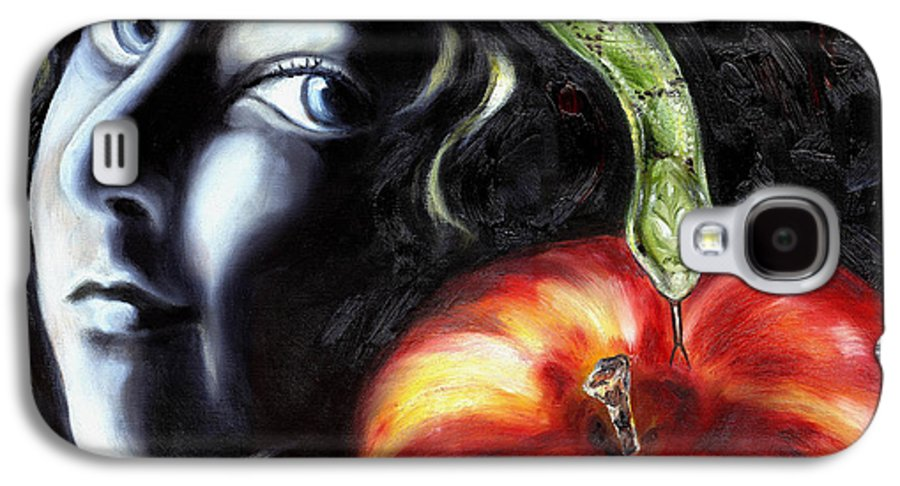 Adam And Eve Galaxy S4 Case featuring the painting Trouble Makers by Hiroko Sakai