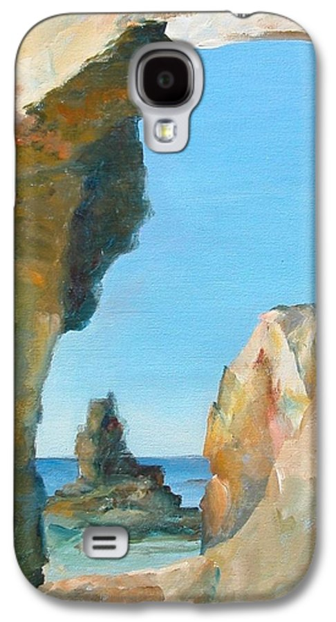 Paysage Galaxy S4 Case featuring the painting Trouee 1 by Muriel Dolemieux
